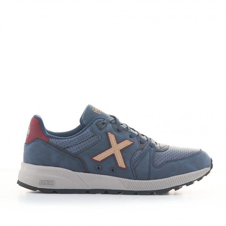 Zapatillas deportivas Munich 1030 azul marino - Querol online