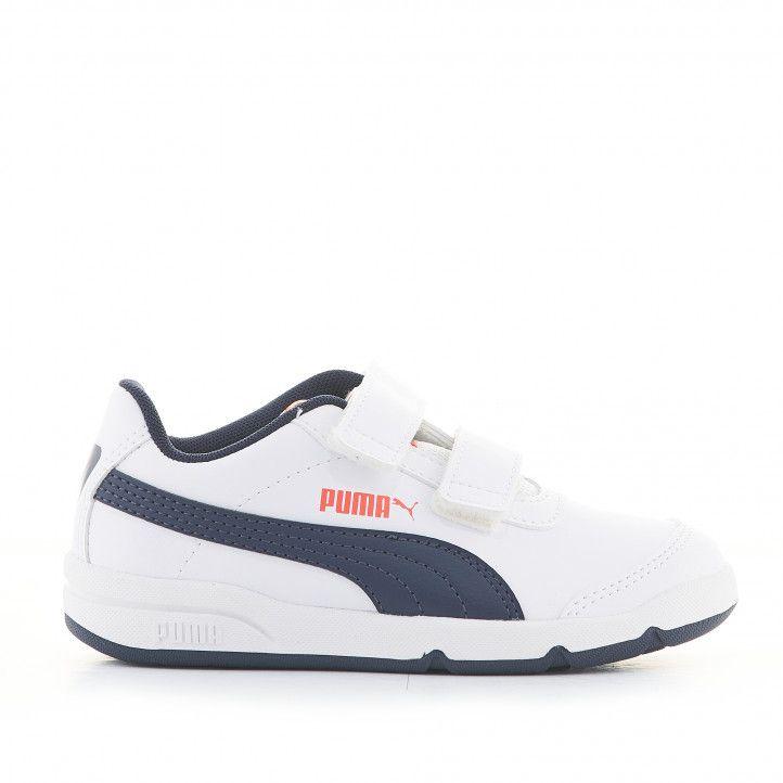 Zapatillas deporte Puma Stefleex 2 blancas con detalles azules - Querol online