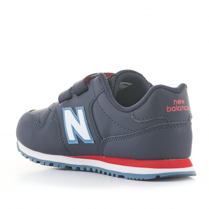 Zapatillas deporte New Balance azul marino con detalles blancos y rojos - Querol online