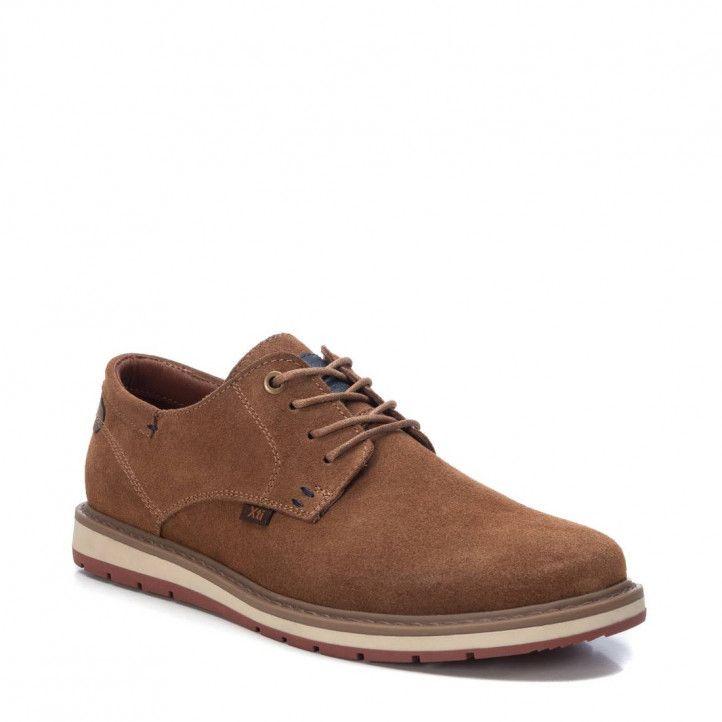 Zapatos sport Xti de cordones marrones - Querol online