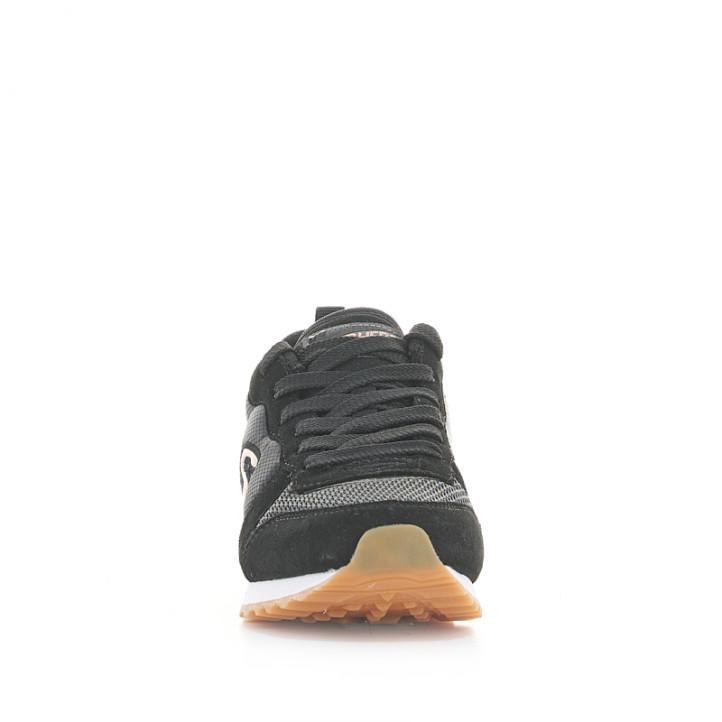 Sabatilles esportives Skechers negres amb detalls daurats i cordons - Querol online