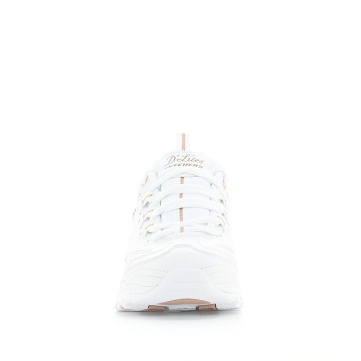 Sabatilles esportives Skechers blanques amb detalls daurats i plantilles memory foam - Querol online