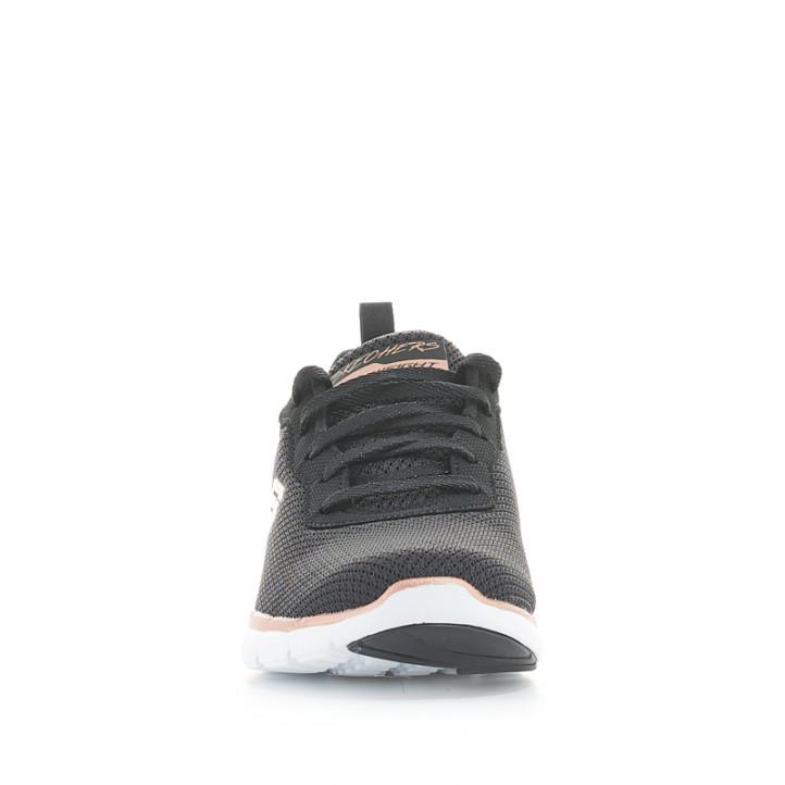 Sabatilles esportives Skechers negres amb cordons i plantilla memory foam - Querol online