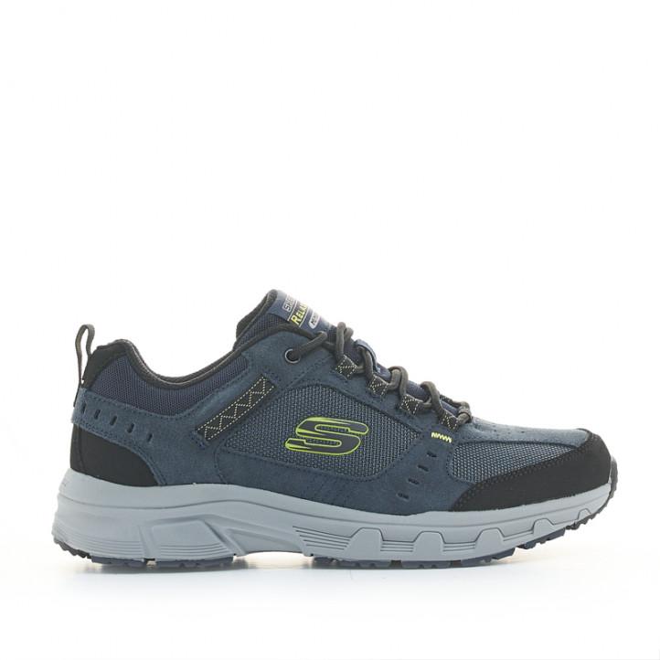 Zapatillas deportivas Skechers azules relaxed fit oak canyon con plantilla memory foam - Querol online