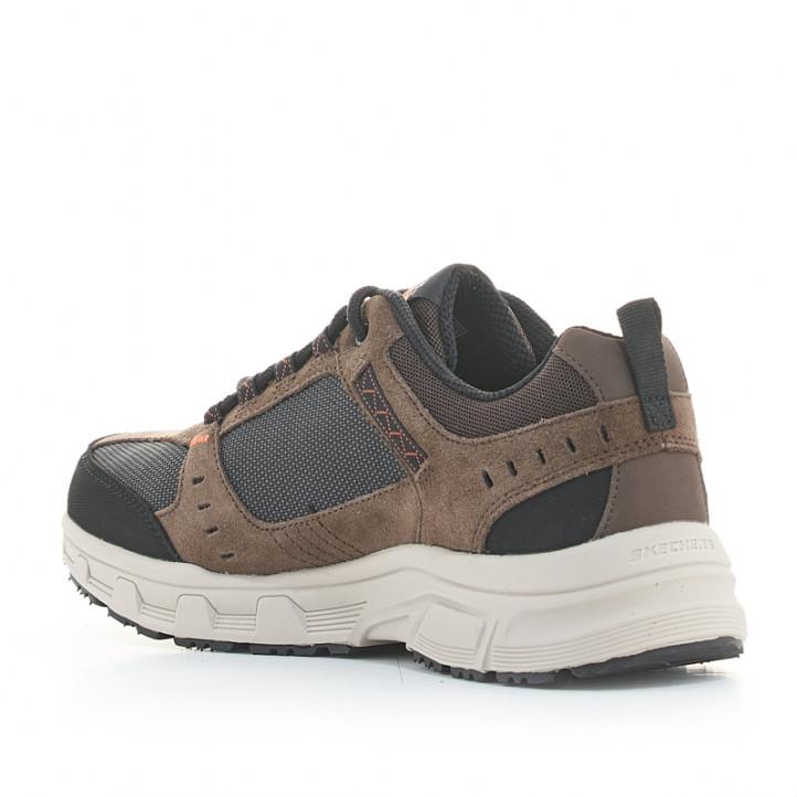 Sabatilles esportives Skechers marrons relaxed fit oak canyon amb plantilla memory foam - Querol online