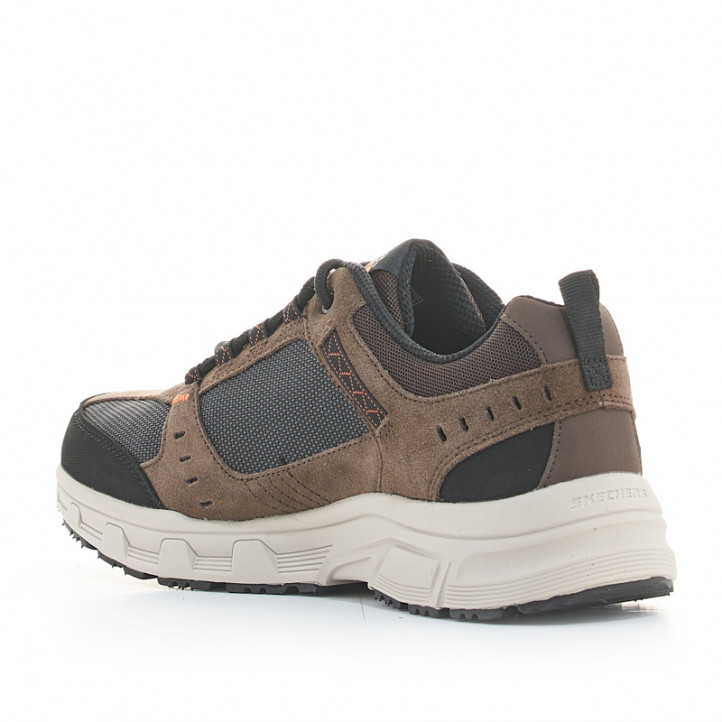 Zapatillas deportivas Skechers marrones relaxed fit oak canyon con plantilla memory foam - Querol online
