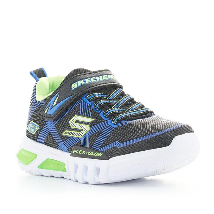 Zapatillas deporte Skechers flex glow azules con luces - Querol online