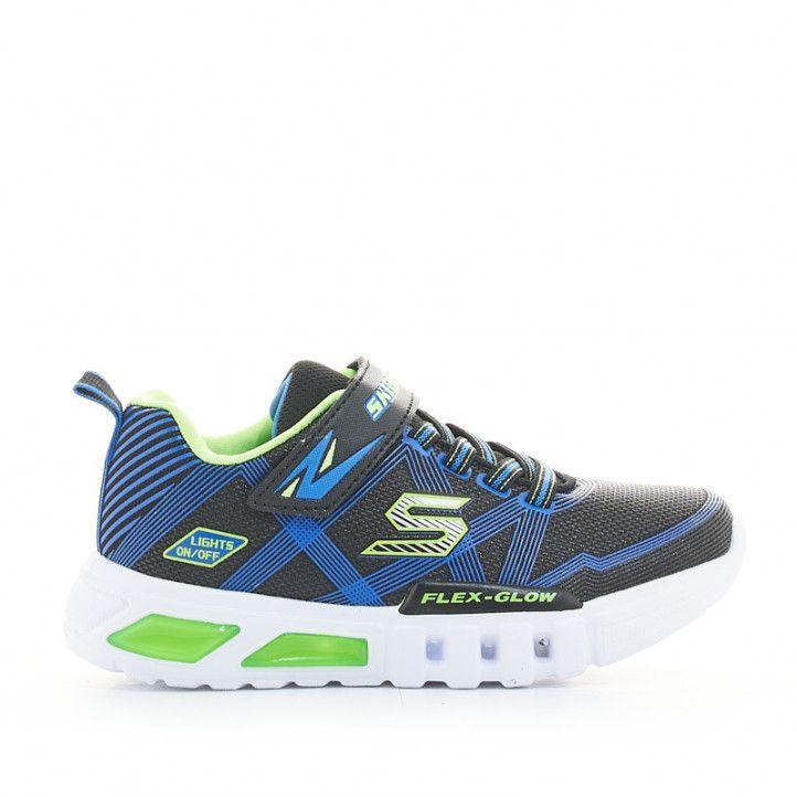Sabatilles esport Skechers flex glow blaves amb llums - Querol online