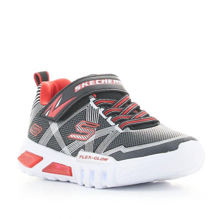 Zapatillas deporte Skechers flex glow negras con luces - Querol online