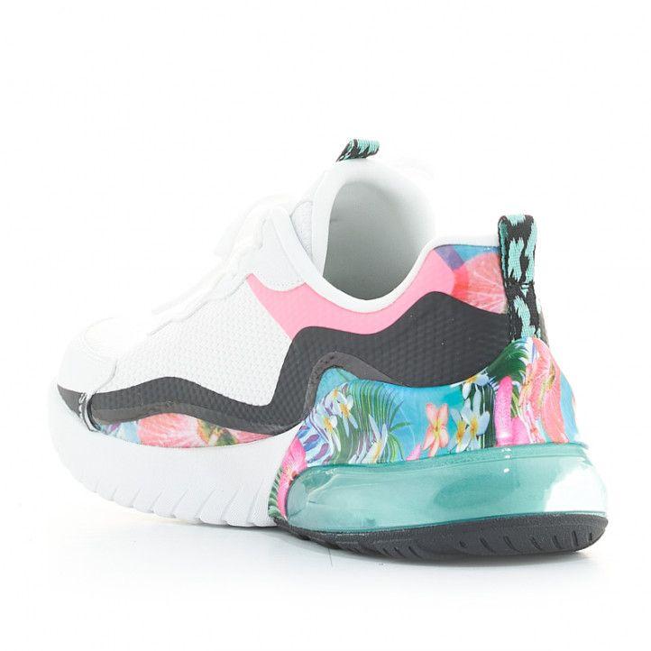 Zapatillas deportivas Skechers blancas con detalle estampado super galaxy - Querol online