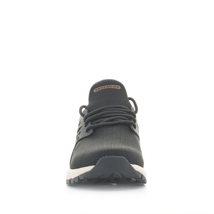 Sabatilles esportives Skechers negres amb detalls marrons relaxed fit - Querol online