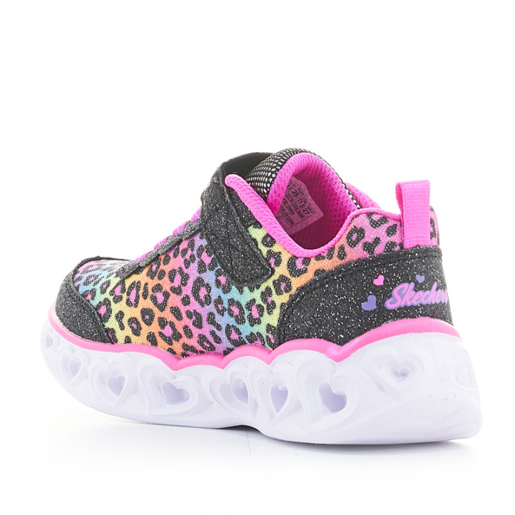Sabatilles esport Skechers animal print multicolor heart lights-love match - Querol online