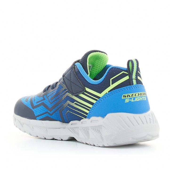 Sabatilles esport Skechers blaves magna-lights amb llums - Querol online