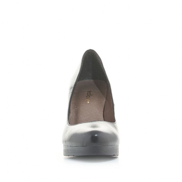 Zapatos tacón Redlove de piel negros con tacón ancho - Querol online