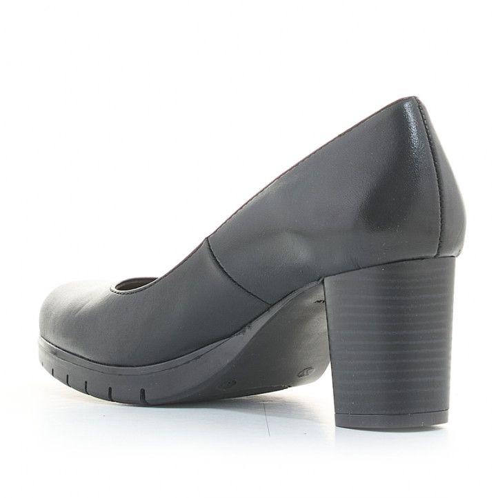 Zapatos tacón Redlove de piel negros con tacón medio - Querol online