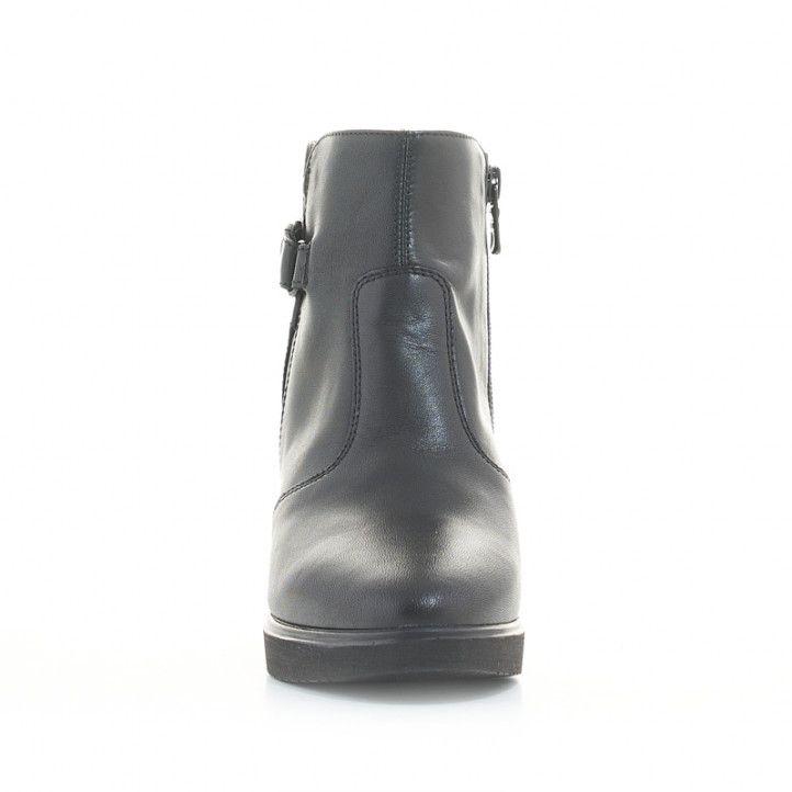 Botines tacón Nero Giardini negros de piel con detalle alrededor del tobillo - Querol online