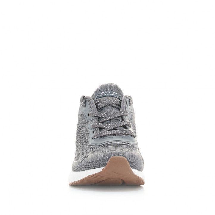 Sabatilles esportives Skechers grises amb detalls purpurina - Querol online