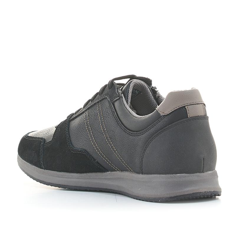 Espectacular Explicación reforma  Zapatos sport de piel negras con cordones y cremallera lateral Geox |  Querol online