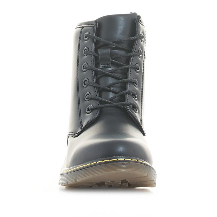Botins K-TINNI de color negre amb cordons i cremallera al lateral - Querol online