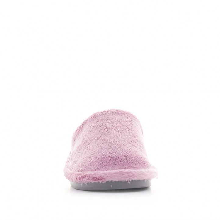 Zapatillas casa Laro rosas de pelo - Querol online