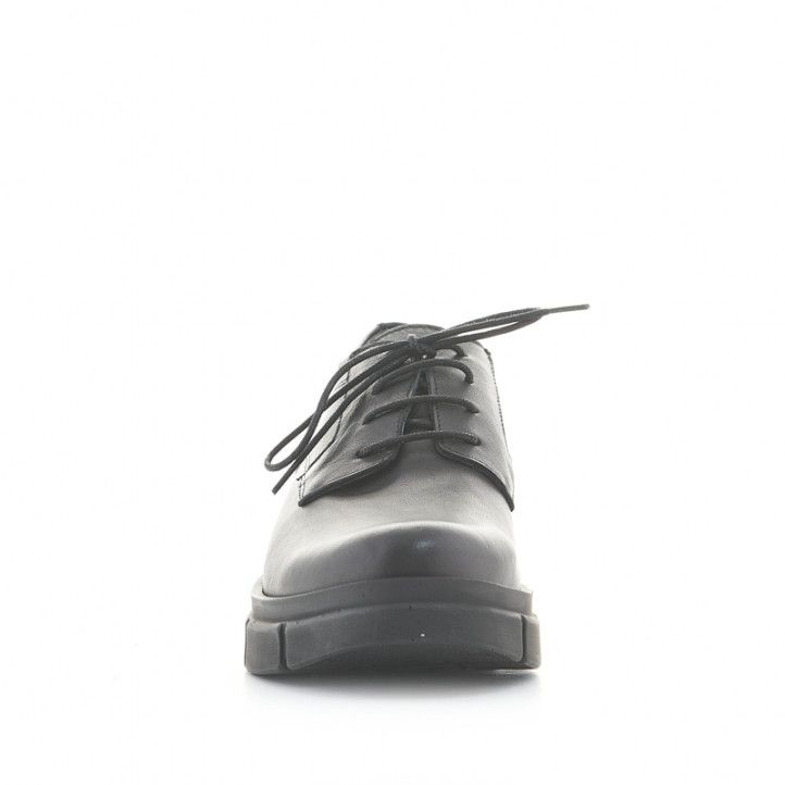 Zapatos tacón Redlove isabella negros de piel con suela track - Querol online