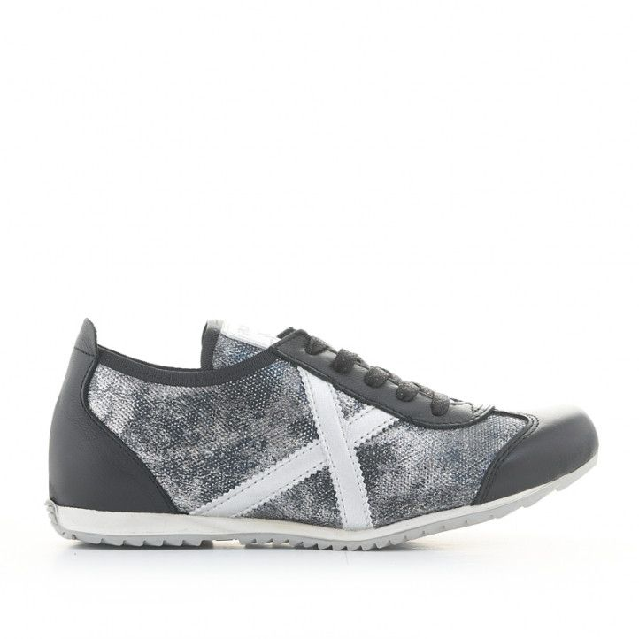 Zapatillas deportivas Munich osaka 431 grises metalizadas y negras - Querol online
