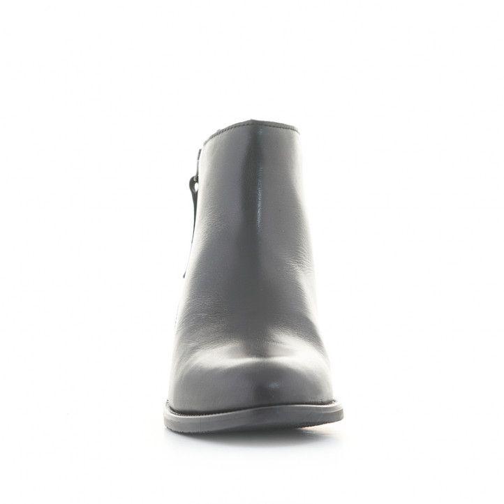 Botins plans Suite009 de pell negres amb cremallera al lateral - Querol online