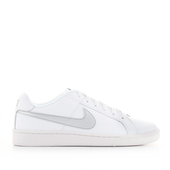 Zapatillas deportivas Nike Court Royale blancas con logo en plata - Querol online