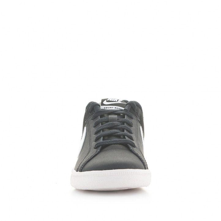 Sabatilles esportives Nike Court Royale negres amb logotip blanc - Querol online