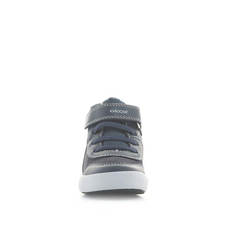 Botines Geox azules con detalles rojos, cordones elásticos y velcro - Querol online