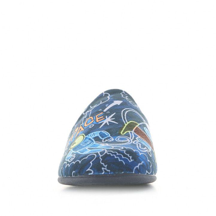 Espardenyes casa Vul·ladi blaves amb estampat de l'espai - Querol online