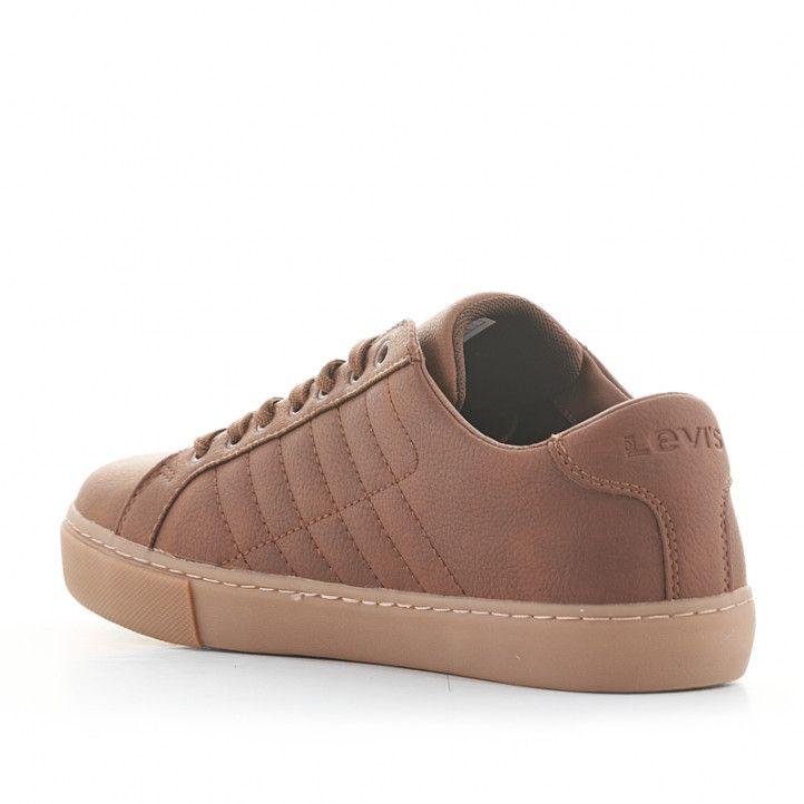 Zapatos sport Levi's marrones con cordones - Querol online