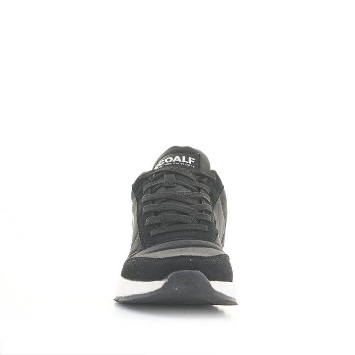 Zapatillas deportivas ECOALF negras de cordones con suela blanca - Querol online