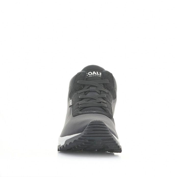 Botines ECOALF negros de tela con cordones - Querol online