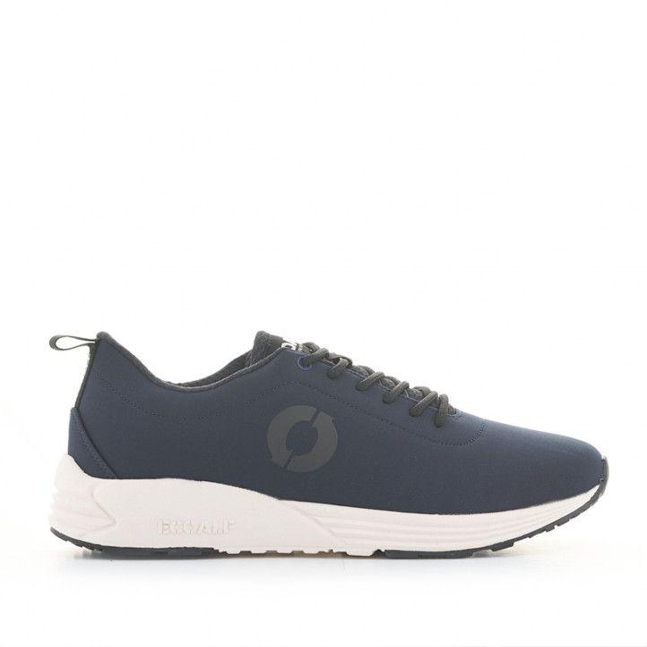 Zapatillas deportivas ECOALF azules con cordones negros y suela blanca - Querol online