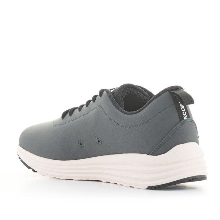 Zapatillas deportivas ECOALF grises con cordones negros y suela blanca - Querol online