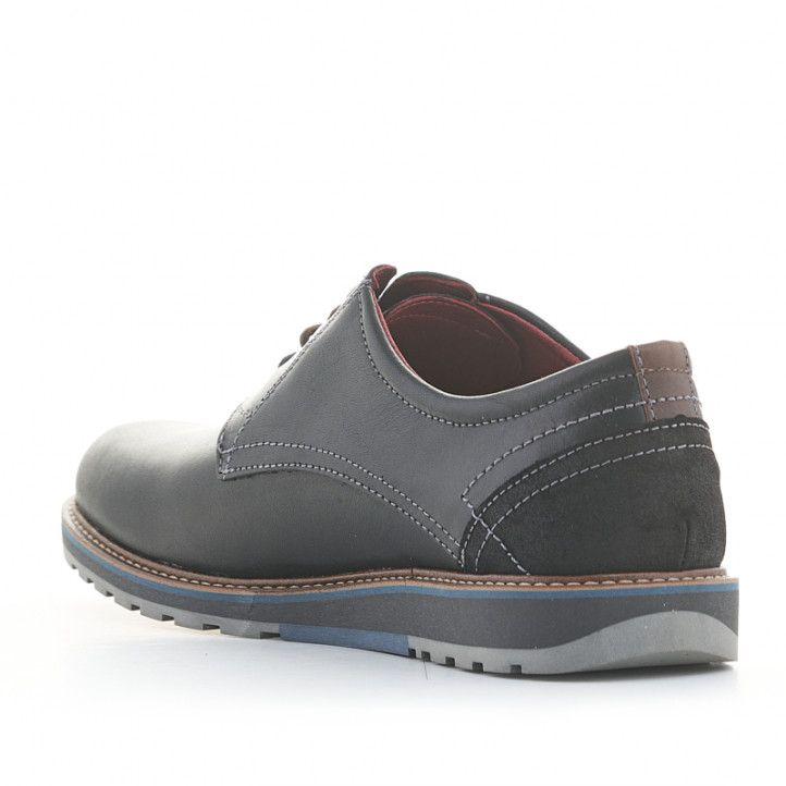 Zapatos vestir Lobo lhotse negros de piel con cordones - Querol online