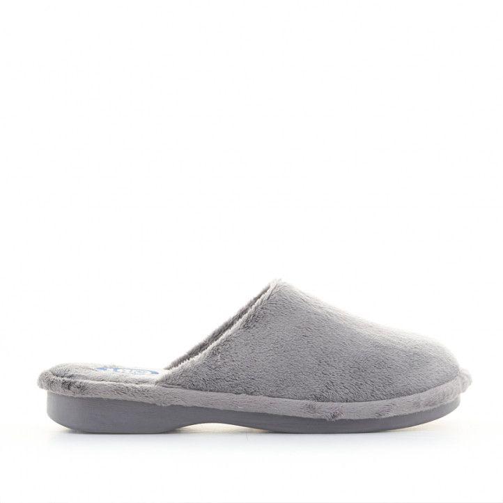 Zapatillas casa Laro grises de pelo - Querol online