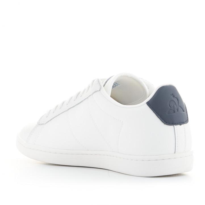 Zapatillas deportivas Le Coq Sportif courtset de piel blancas - Querol online
