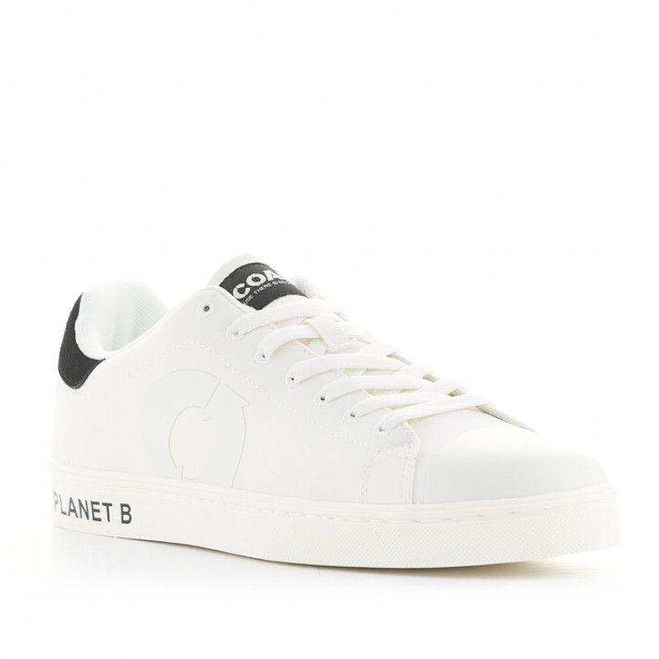 Zapatillas deportivas ECOALF blancas mensaje planet B en la suela - Querol online