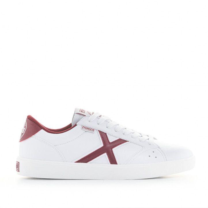 Zapatillas deportivas Munich break 05 blancas y rojas - Querol online