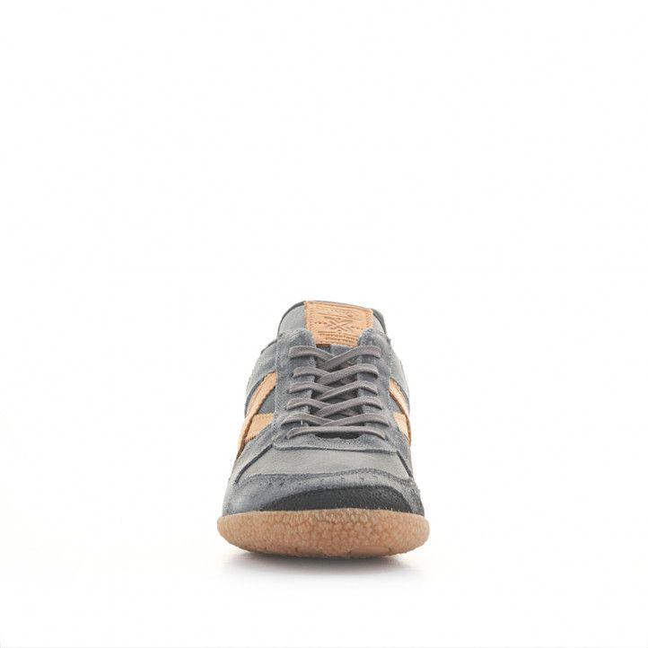 Zapatillas deportivas Munich goal 1499 grises de piel - Querol online