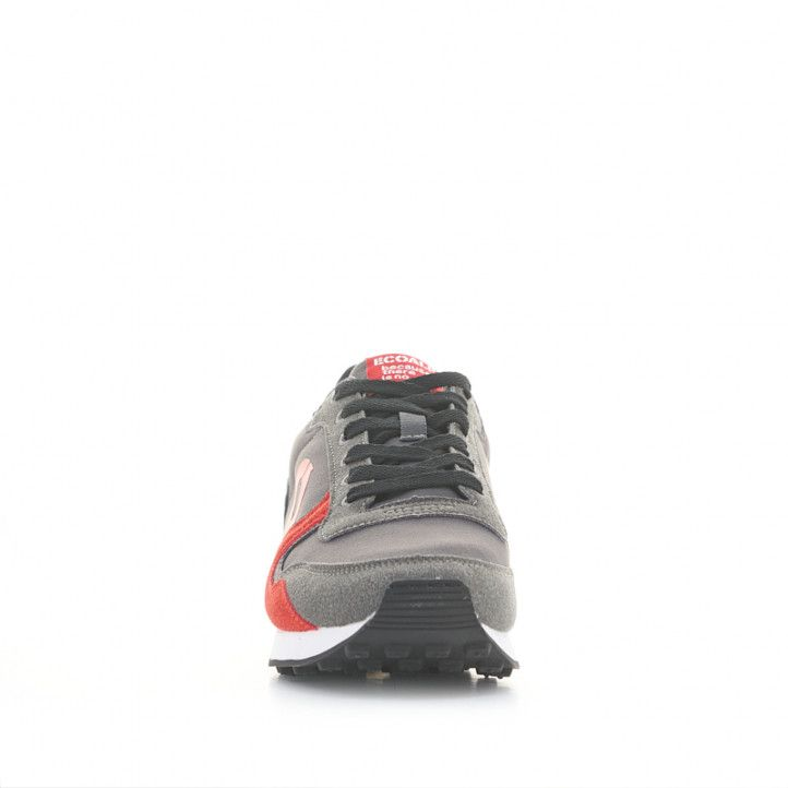 Zapatillas deportivas ECOALF grises y rojas - Querol online
