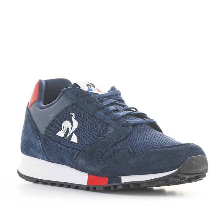Zapatillas deportivas Le Coq Sportif manta azules de piel - Querol online