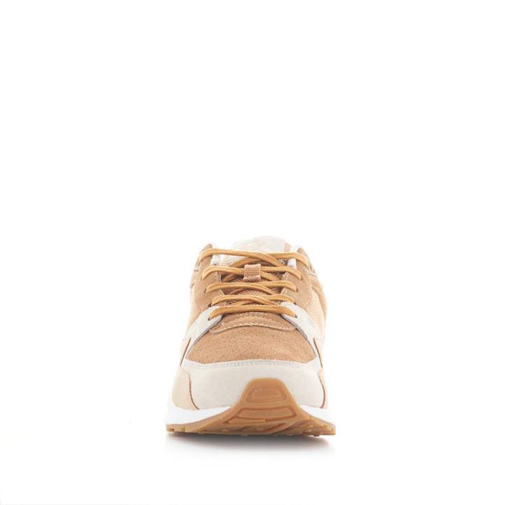 Zapatillas deportivas Le Coq Sportif de piel amarillas, blancas y marrones - Querol online