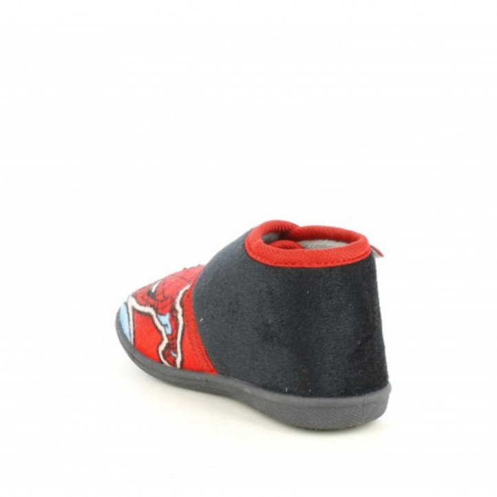 Zapatillas casa Cerda negras y rojas con velcro de spiderman - Querol online