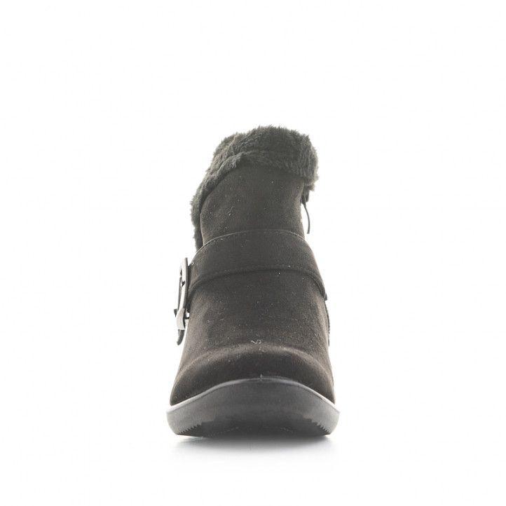 Botins plataforma Amarpies negres de pèl interior i sivella lateral - Querol online