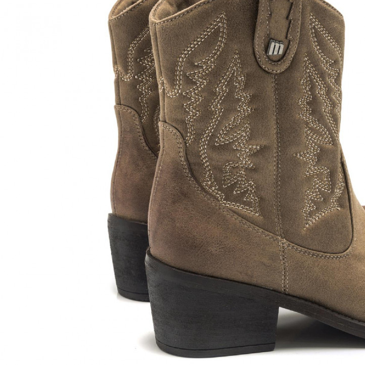 BOTINES DE MUJER MUSTANG TANUBISTP TAUPE - Querol online