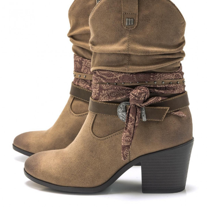 BOTINES DE MUJER MUSTANG NEW PALASTP TAUPE - Querol online