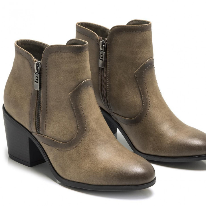 BOTINES DE MUJER MUSTANG NOW PALASTP TAUPE - Querol online